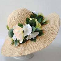 Dezzal: Flower Travel Straw Hat