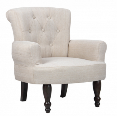 VidaXL: 1 Pc French Chair With Armrest Just $107.99