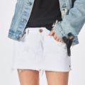 One Teaspoon: White Beauty Junkyard Relaxed Denim Mini Skirt