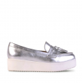 Siren Shoes: $100 Off Tevi - Silver Kid Leather