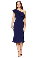 6pm: 68% Off London Times Catalina Crepe One Shoulder Dress