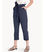 Pomelo Fashion: Folded High Waisted Paperbag Pants For A$49.99